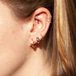 Star CZ Hoops - seol-gold