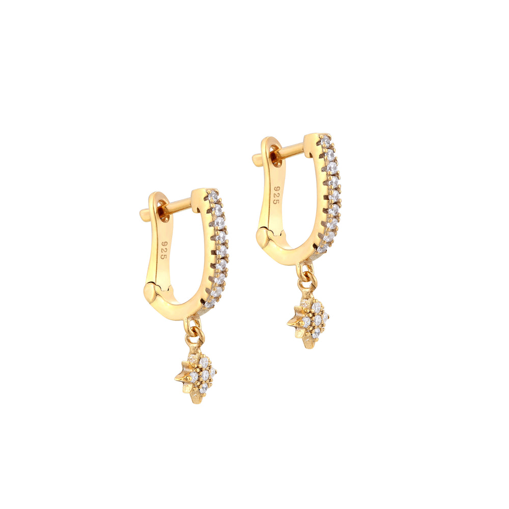 north star - gold hoops - seolgold