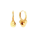 gold disc Hoops - seol-gold