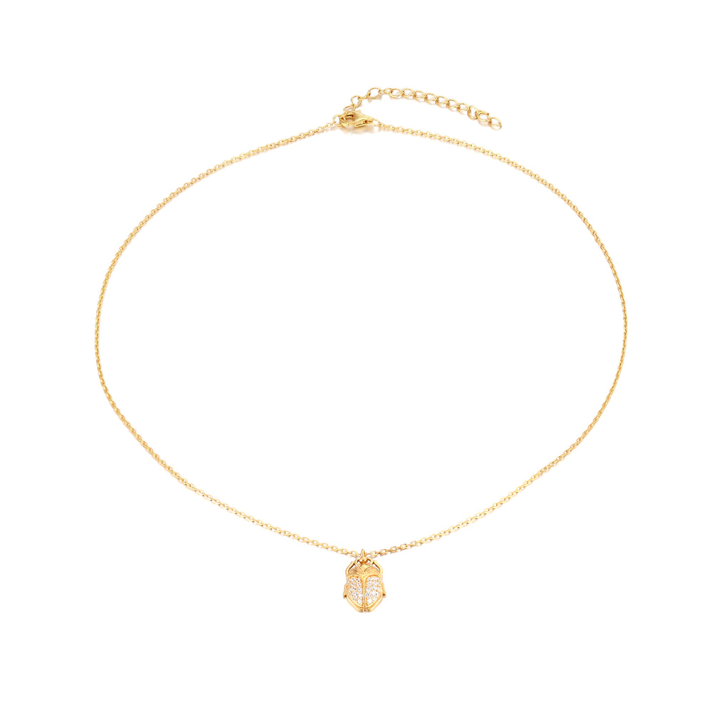 Scarab Necklace - seol-gold