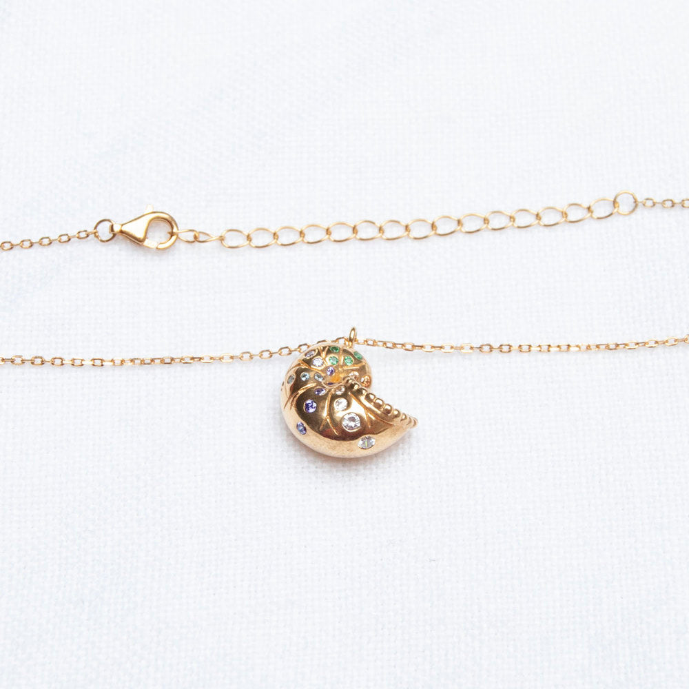 Rainbow shell Necklace - seol-gold