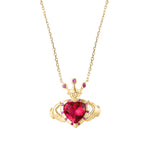 gold claddagh necklace- seolgold