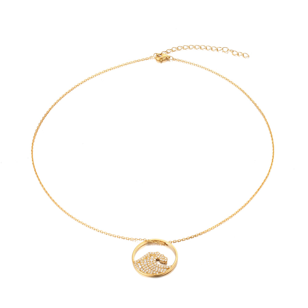 surfer necklace - seol-gold