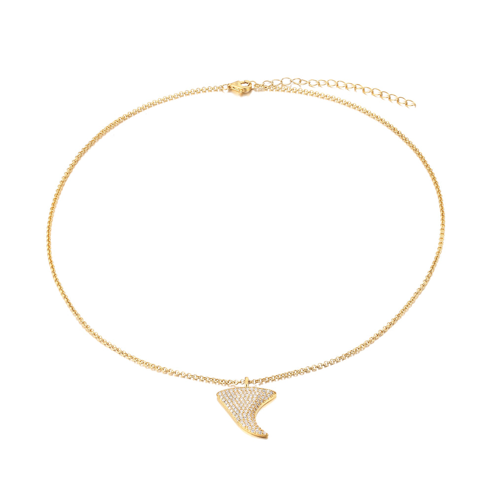shark tooth necklace - seolgold