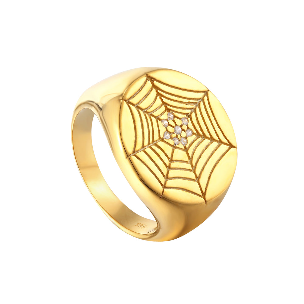 gold spider ring - seolgold