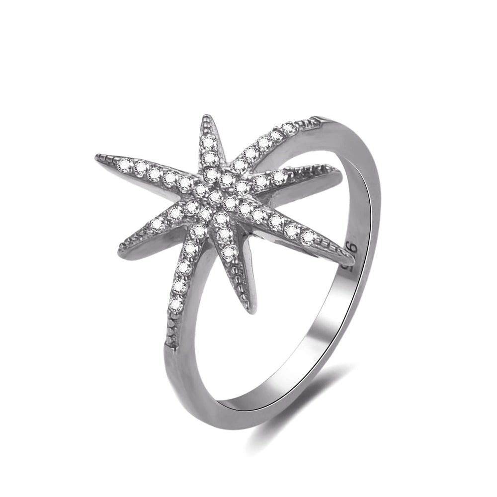 Silver Star Ring - seol-gold