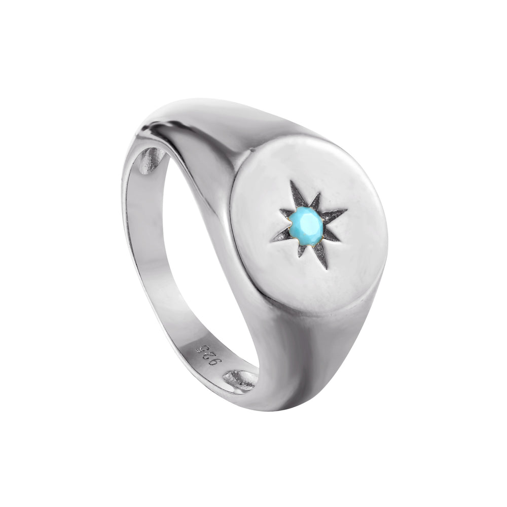 turquoise silver ring - seol gold