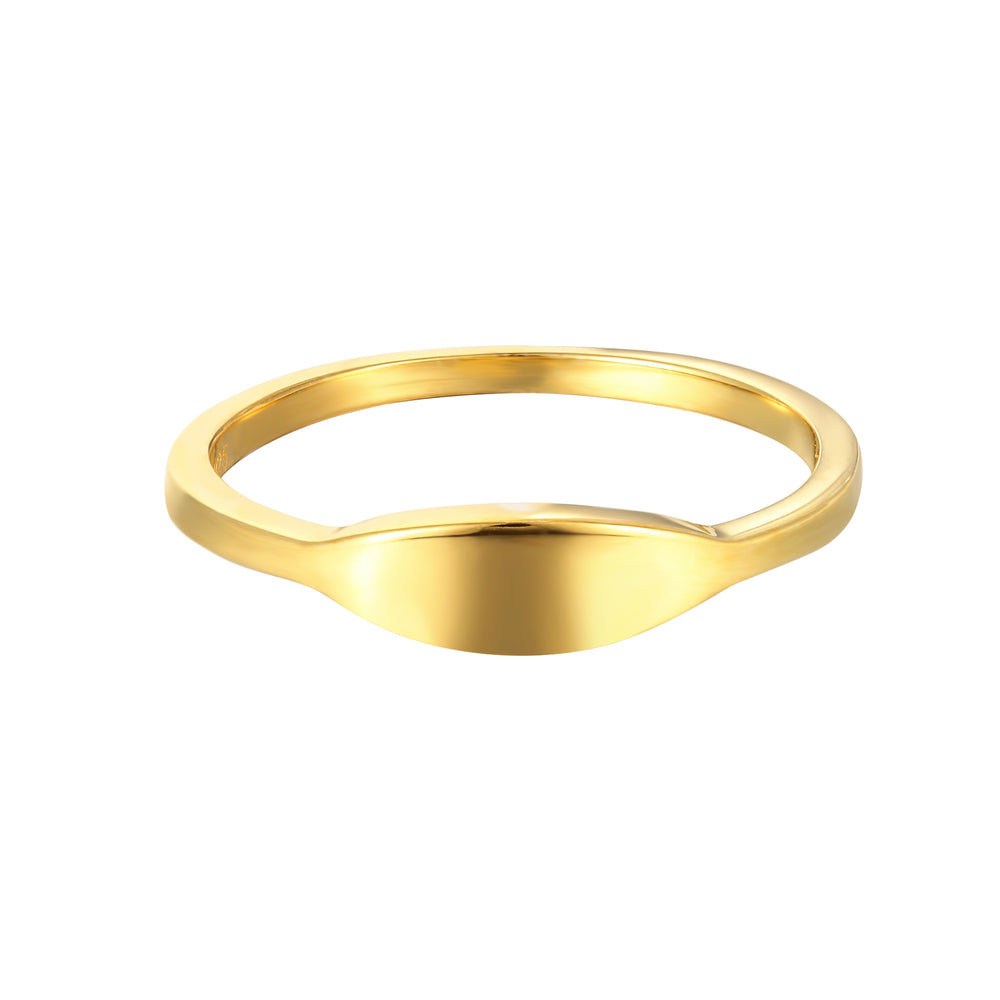 Rounded Edge Signet Ring