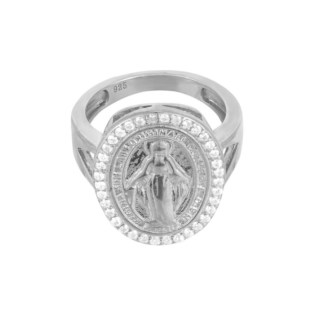 silver - lady guadalupe ring - seolgold