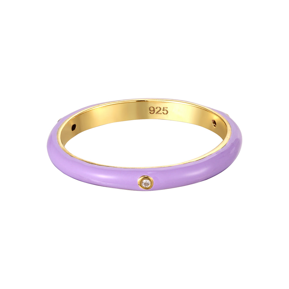 Lilac Enamel Ring