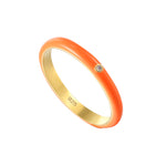 Orange Enamel Ring