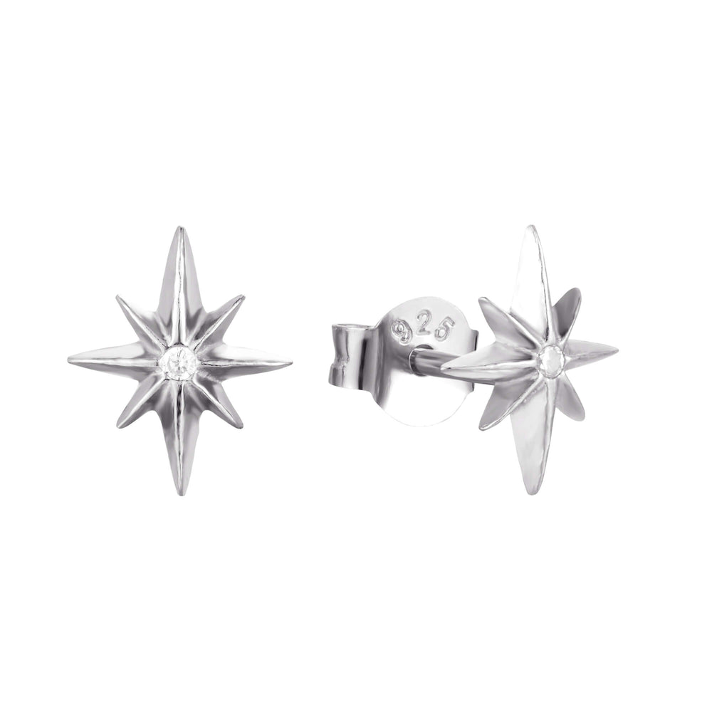 North Star CZ Studs - seol-gold