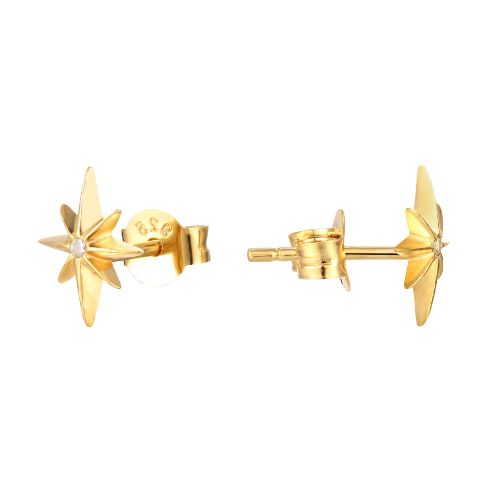 North Star Studs - seol-gold
