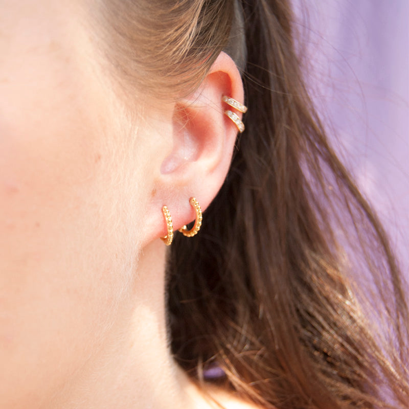 Dot stud earrings - seol-gold