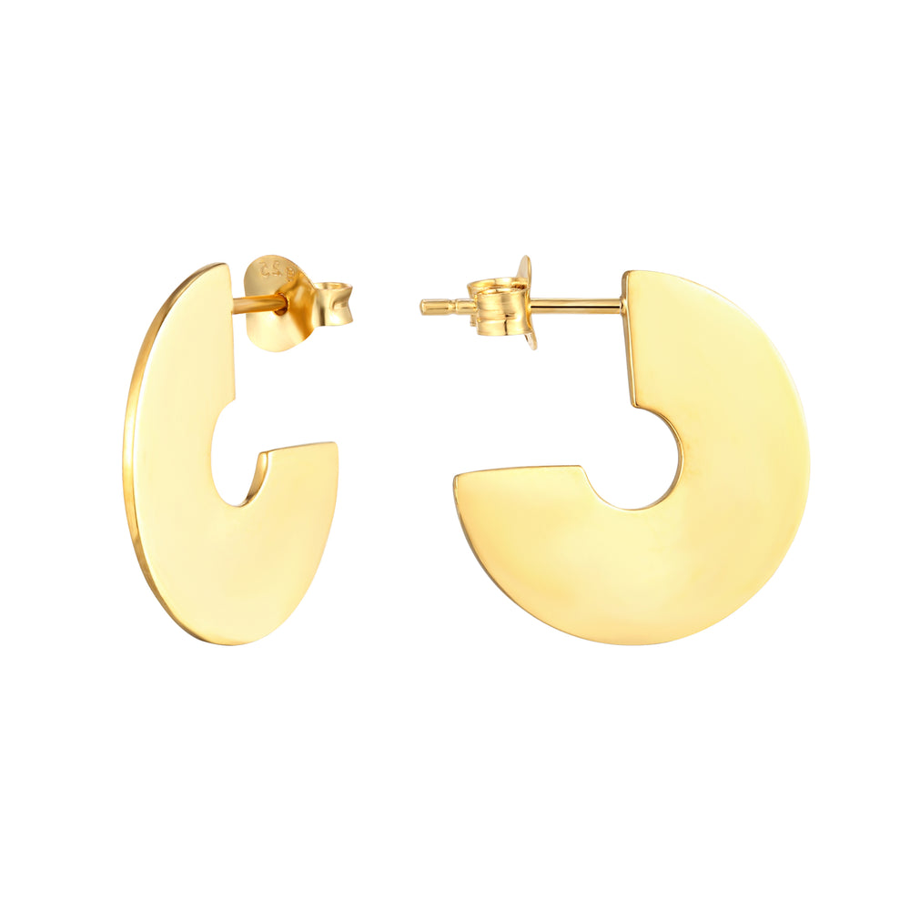 Disc Stud Earrings - seol-gold