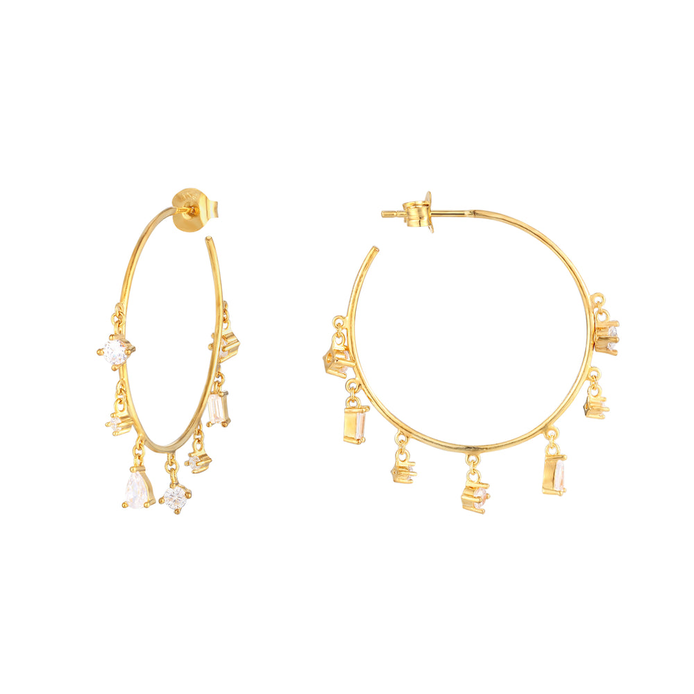 big gold hoops - seolgold