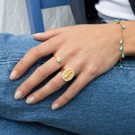 Lady Guadalupe Signet Ring - seol-gold