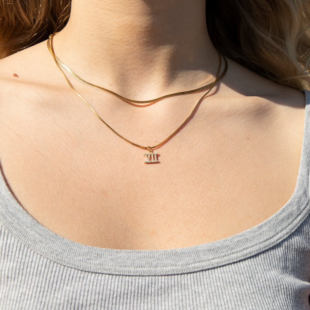 numeral charms - seol-gold
