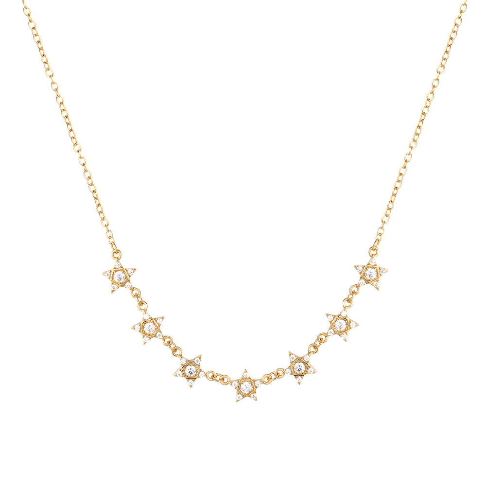 Star Studded CZ Necklace