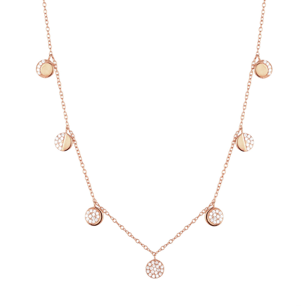 rose gold moon necklace - seolgold