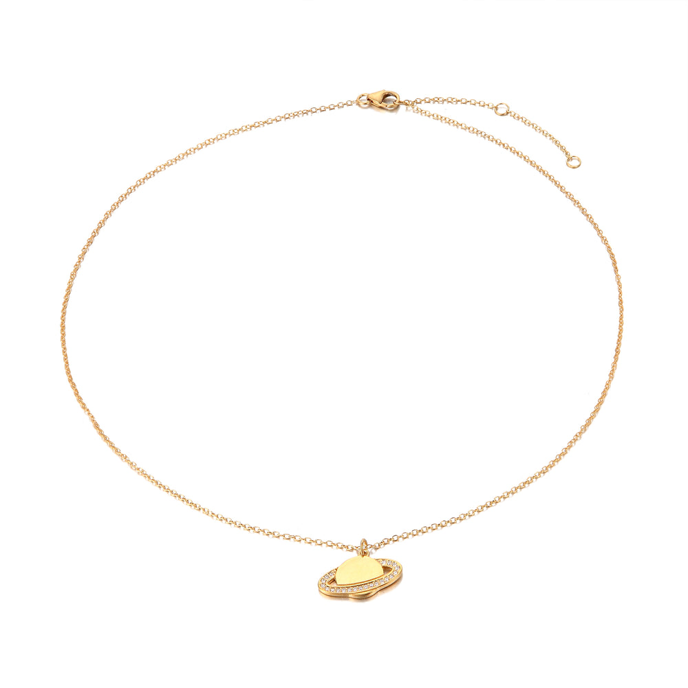 Planet necklace - seol-gold