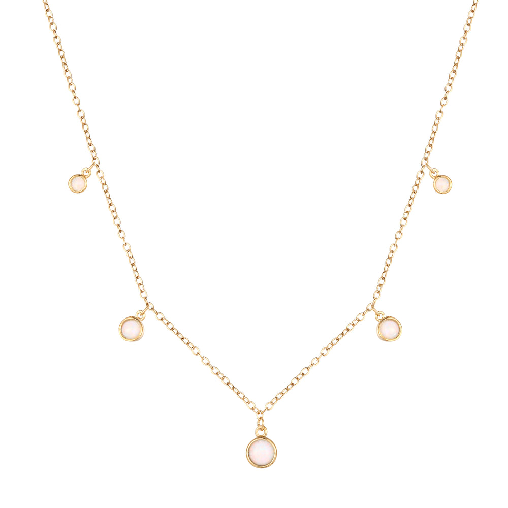 Opal Necklace - seol-gold
