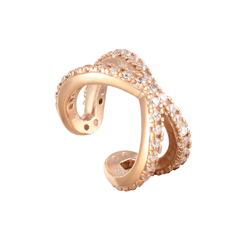 rose gold cuff hoop - seolgold