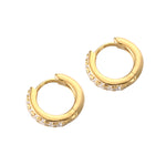 cubic zirconia earrings - seol-gold