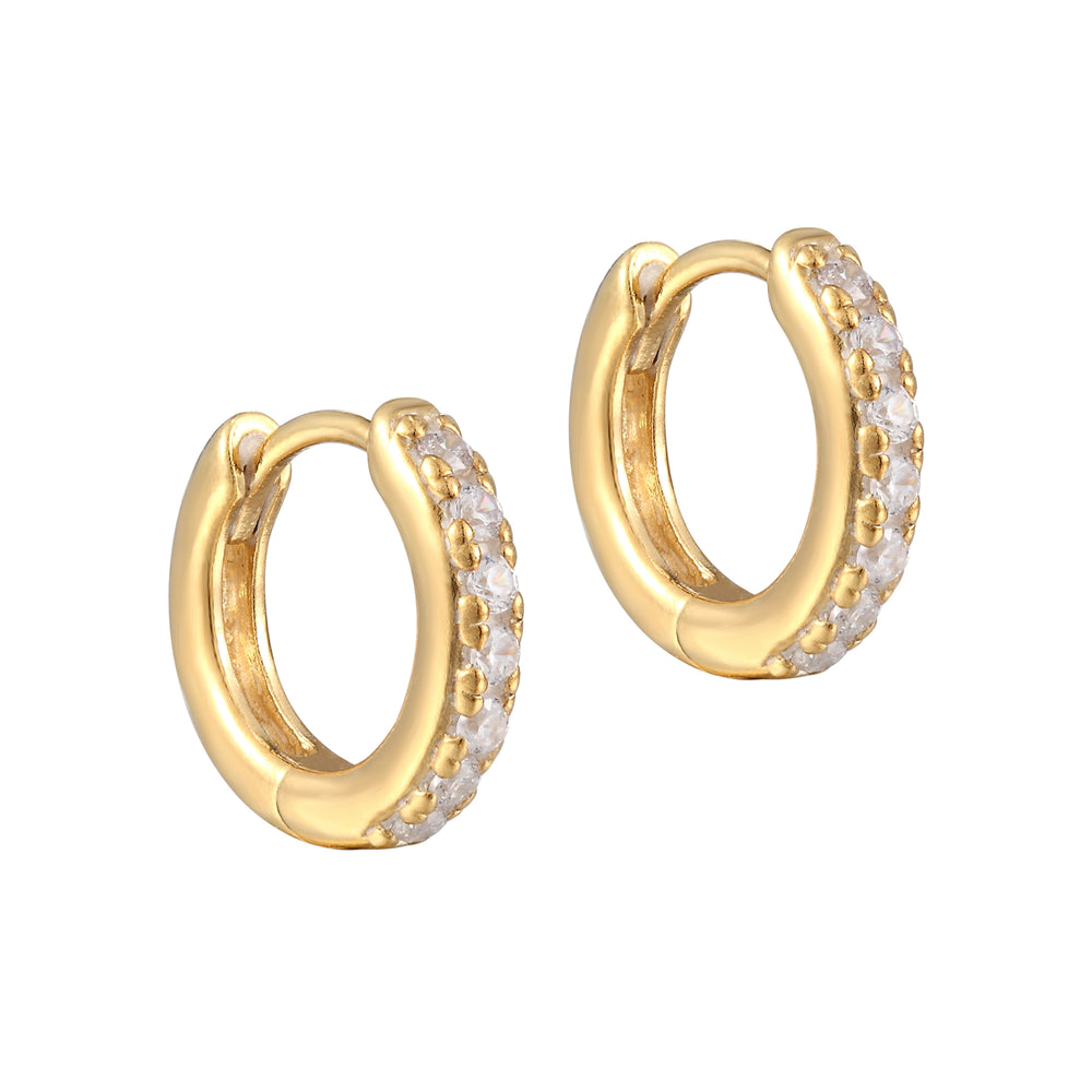 gold huggie hoops - seol-gold