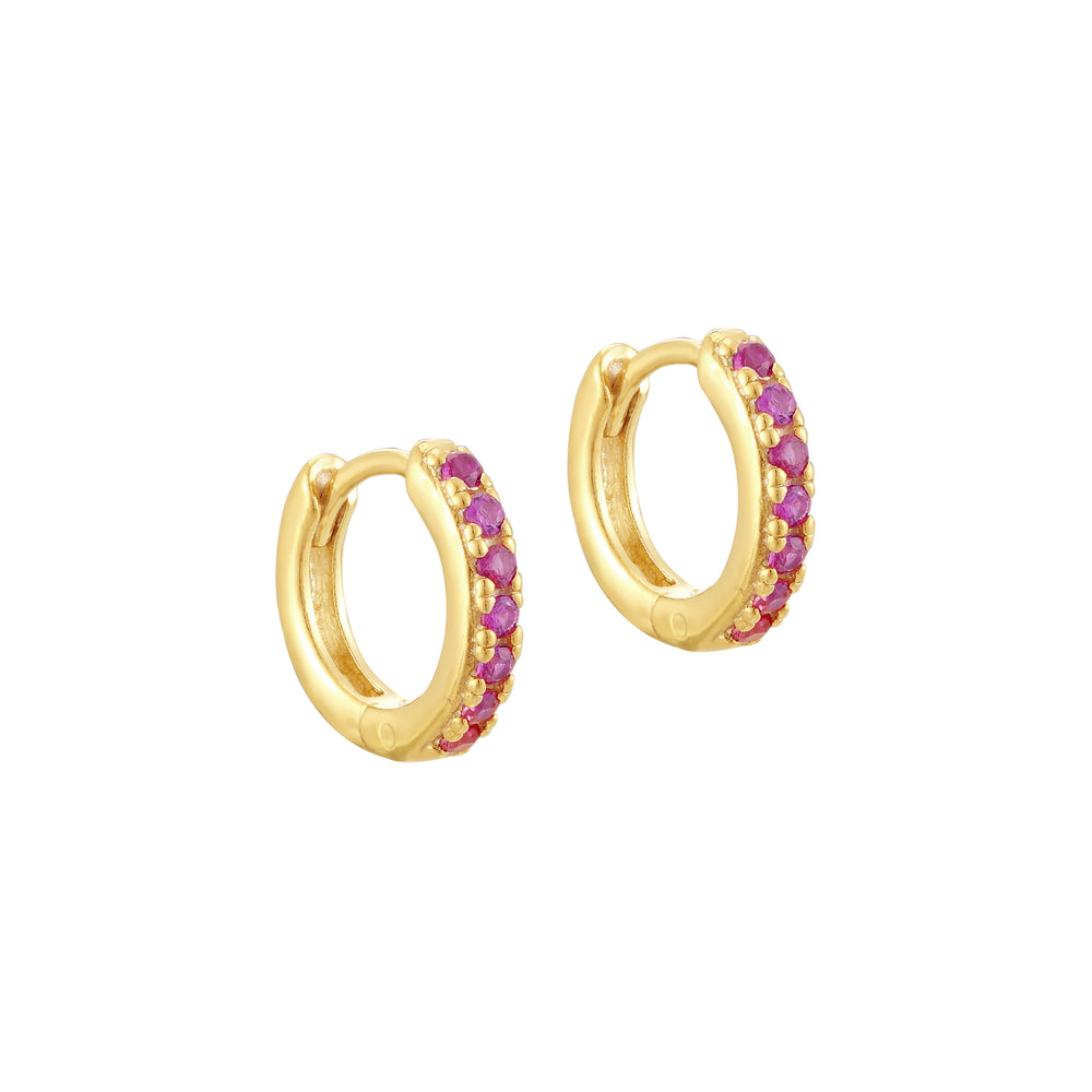 Ruby - gold Hoops - seol-gold