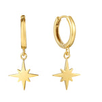 North Star Charm Hoops