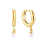 Pearl Drop Charm Hoops