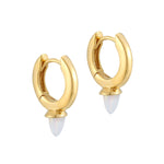 Opal Hoops - seol-gold