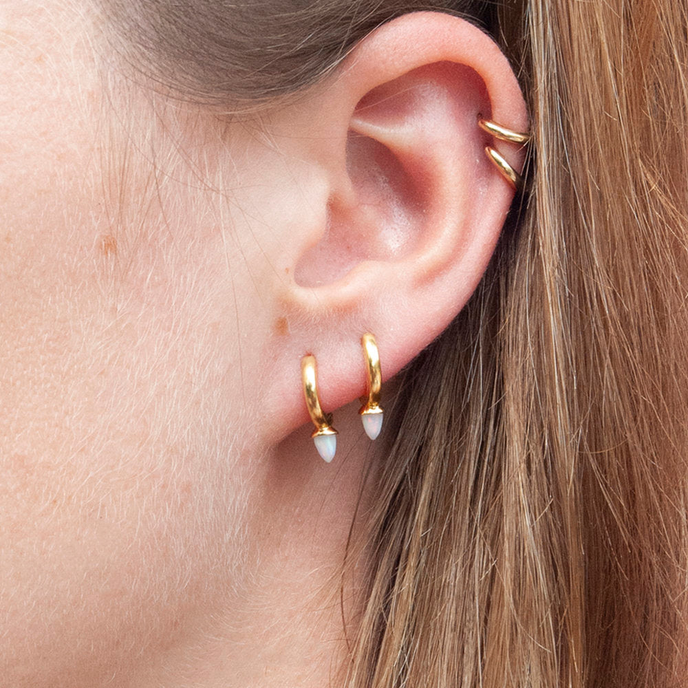 Opal Spike Hoops - seol-gold