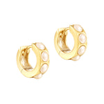Pearl Hoop Earrings - seol-gold
