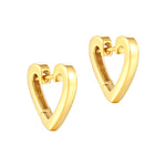 Heart Shaped Huggie Hoops - seol-gold