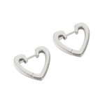 Heart Huggie Hoops