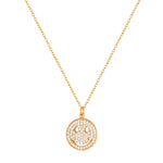 Smiley Face CZ Necklace