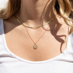 Smiley Face CZ Necklace - seol-gold
