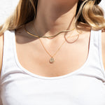 Smiley Necklace - seol-gold