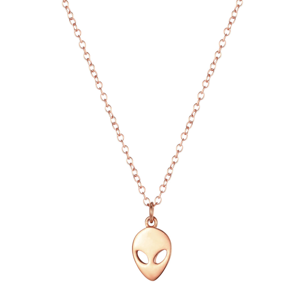 rose gold alien necklace - seolgold