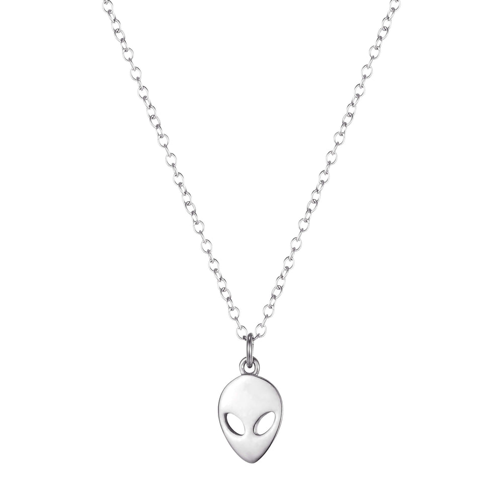 silver alien necklace - seolgold