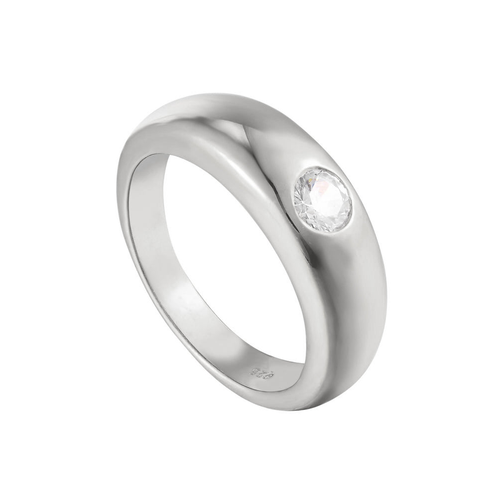 silver dome ring - seolgold