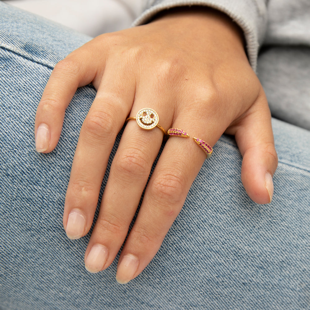 Smiley Face Ring - seol-gold