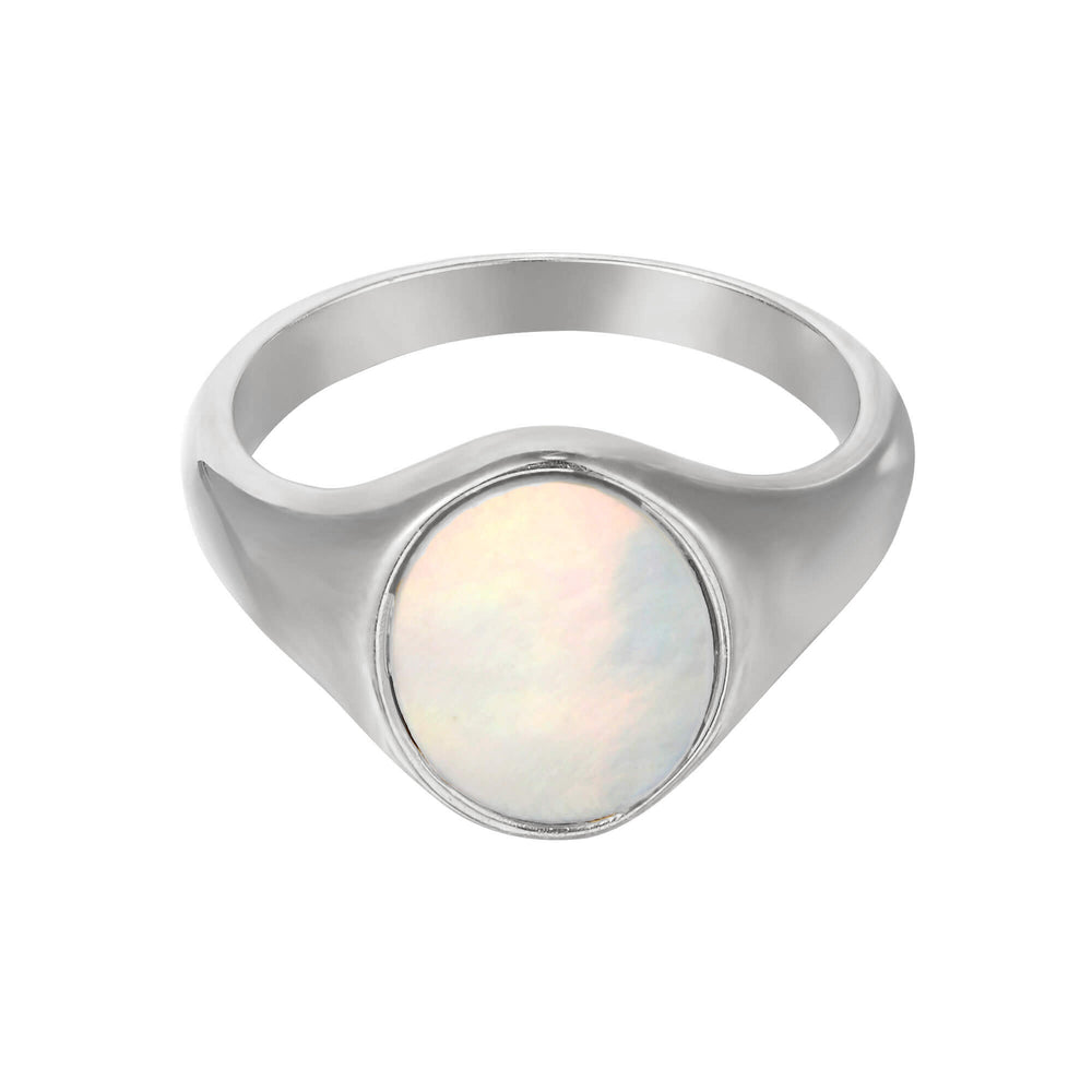 silver signet ring - seol gold