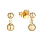 Ball Stud Charm Earrings