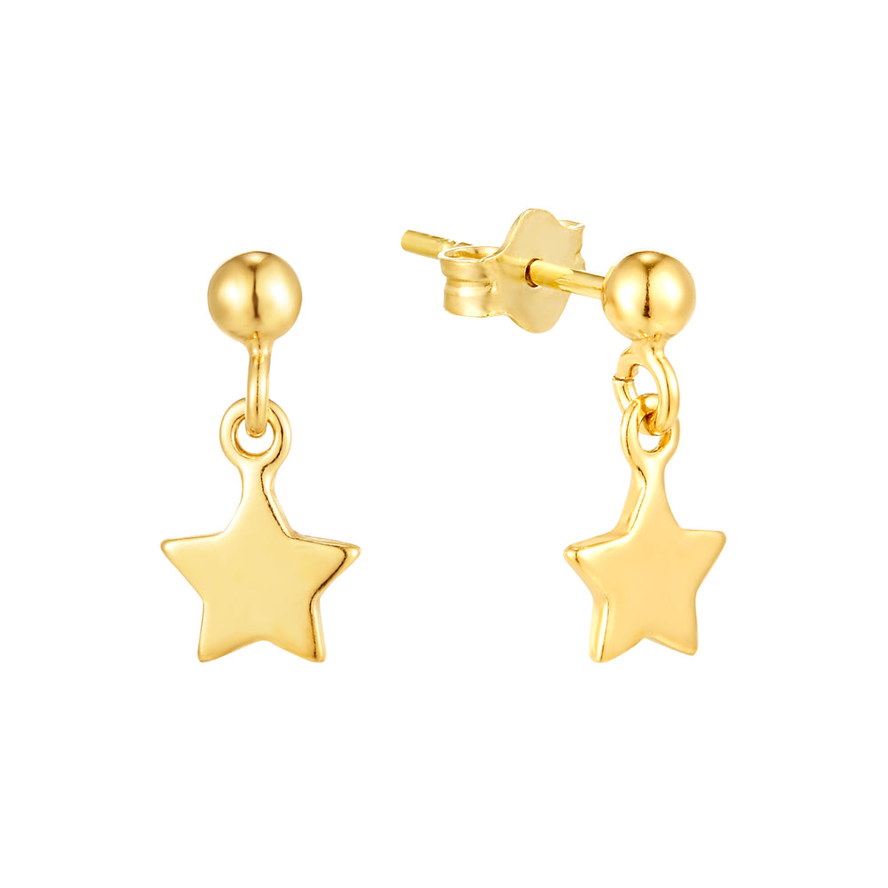 Charm Stud Earrings - seol-gold