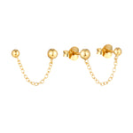 gold chain earrings - seolgold