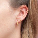 Ball Stud Drop Charm Earrings - seol-gold