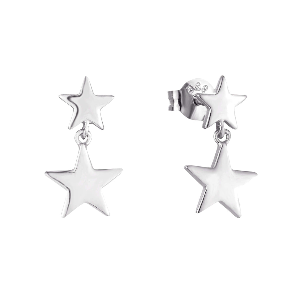 silver star earrings - seolgold